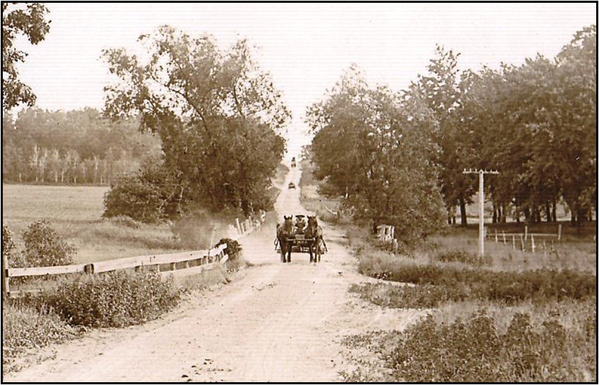 Highway 175 in Byron before the Yellowstone Trail circa 1915